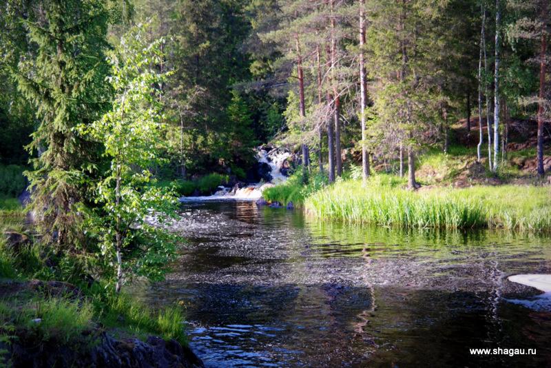 Рускеальские водопады Карелия