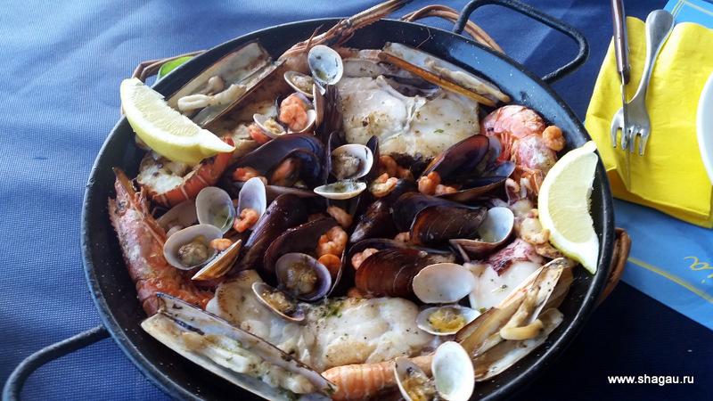 Морепродукты в Испании