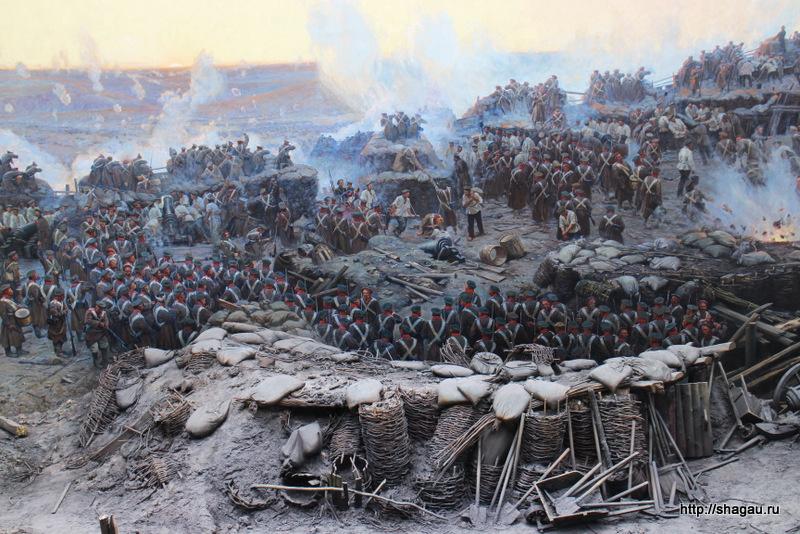 Панорама Оборона Севастополя. Фрагмент