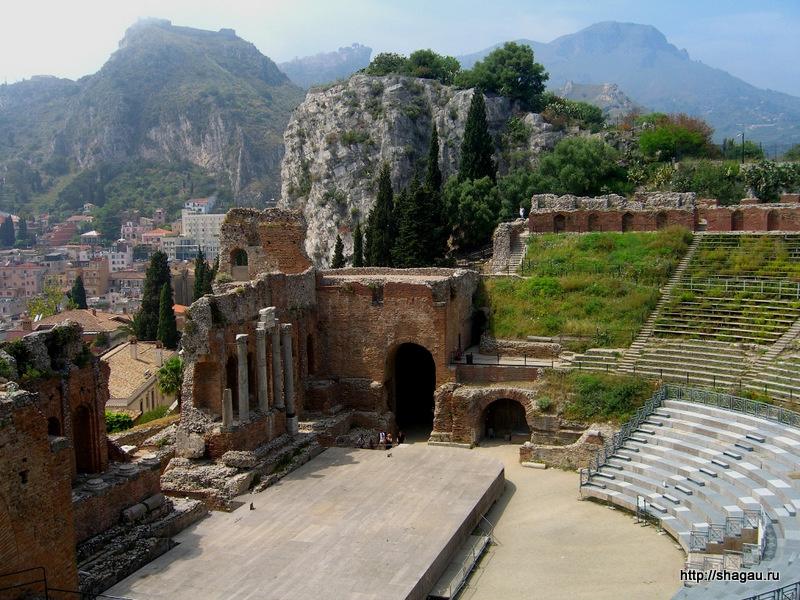 Таормина. Сицилия. Театр