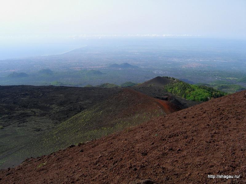 Виды с высоты Этна