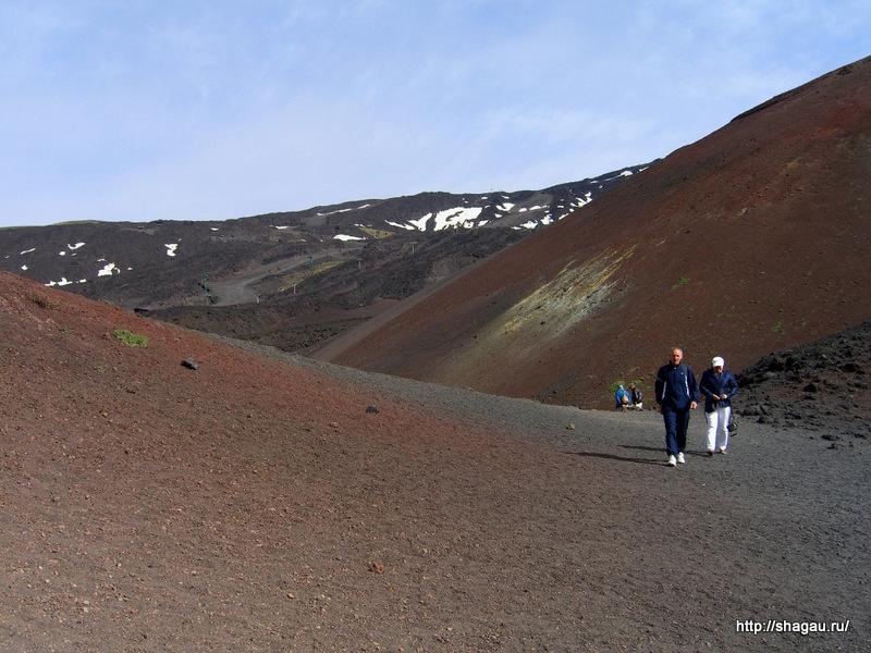 Прогулки по вулкану Этна