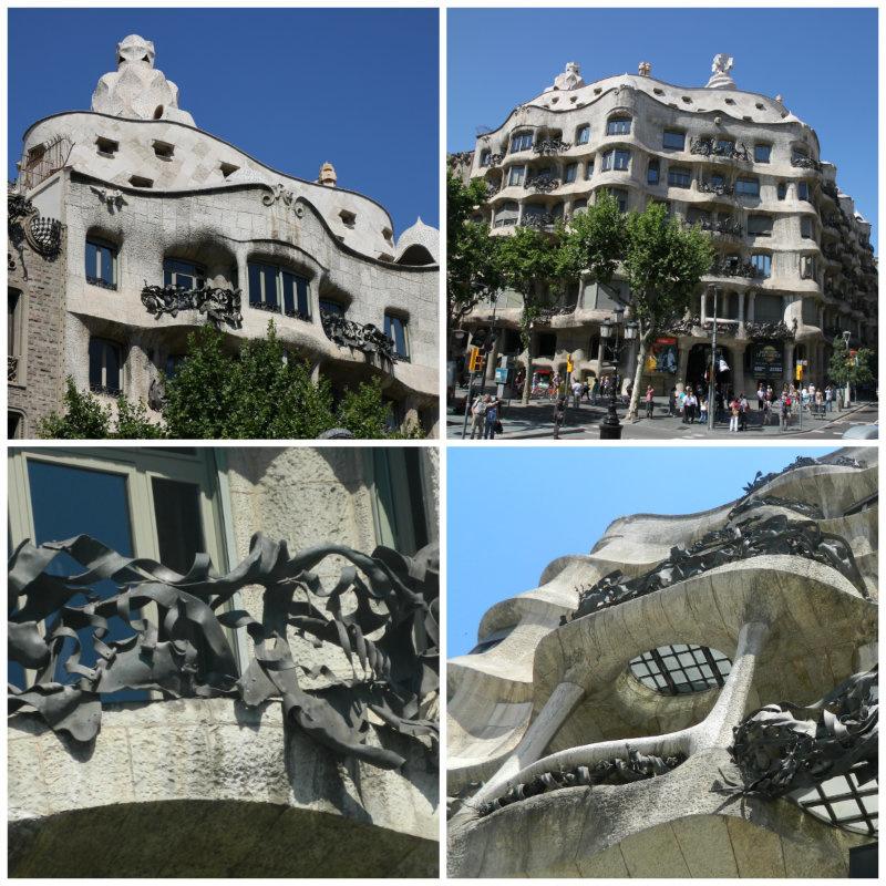 Фасад дома Мила в Барселоне