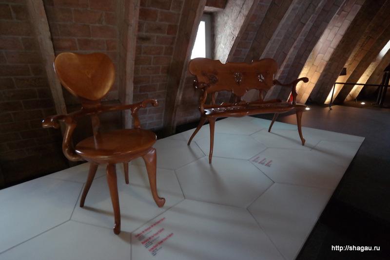 Мебель по эскизам Антонио Гауди