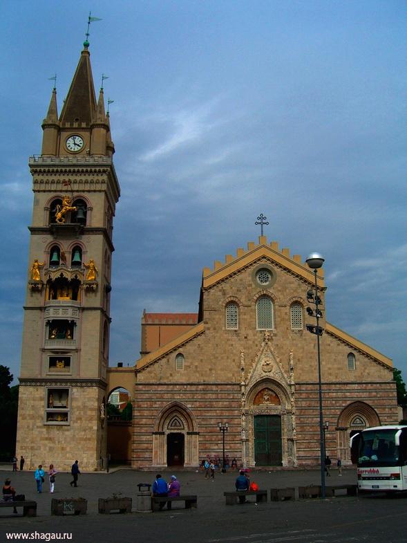 Сицилия. Мессинский собор и колокольня