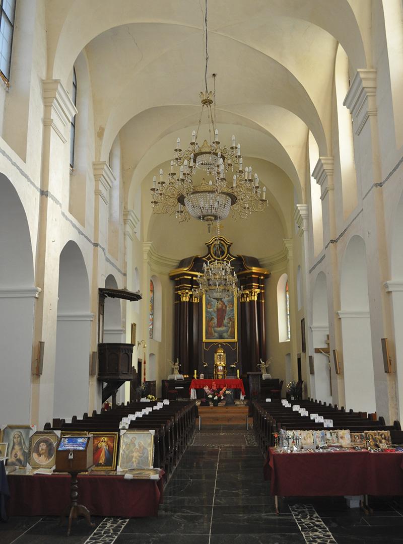 Внутри Мирского костела