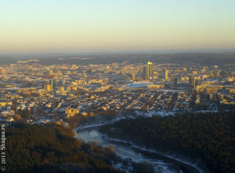 Вид на Вильнюс с телебашни