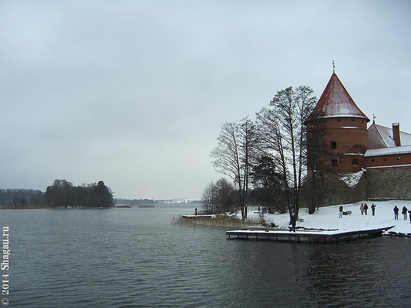 Озеро около Тракайского замка