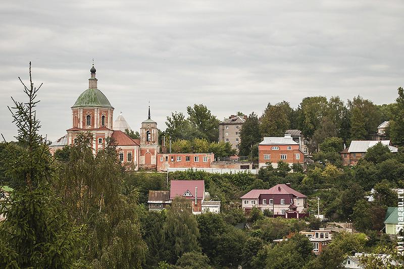 Вид на окрестности Смоленска с высоты Успенского собора