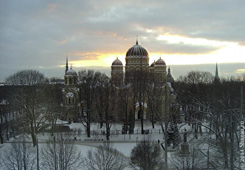 Вид на Христовоздвиженский собор