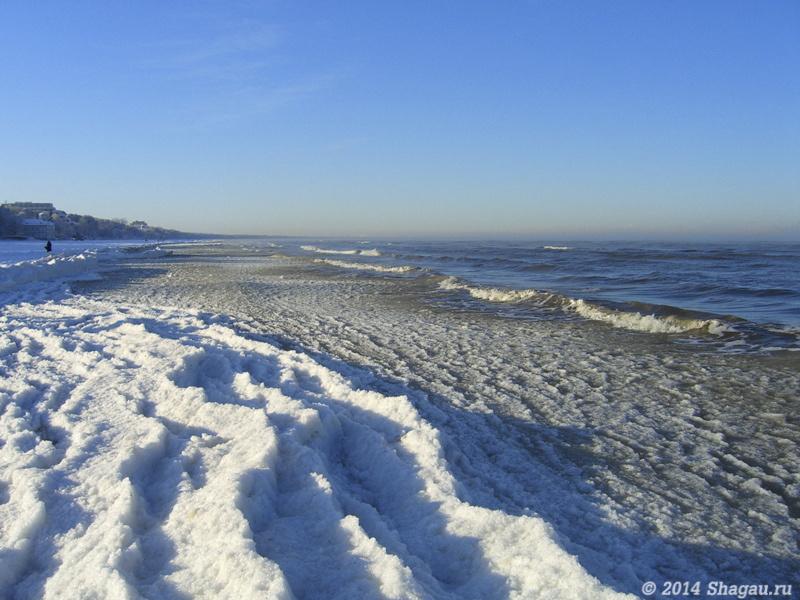 Зимнее море в Юрмале