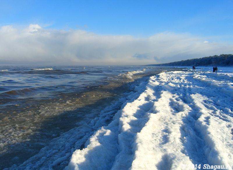 Юрмала. Снежный край моря