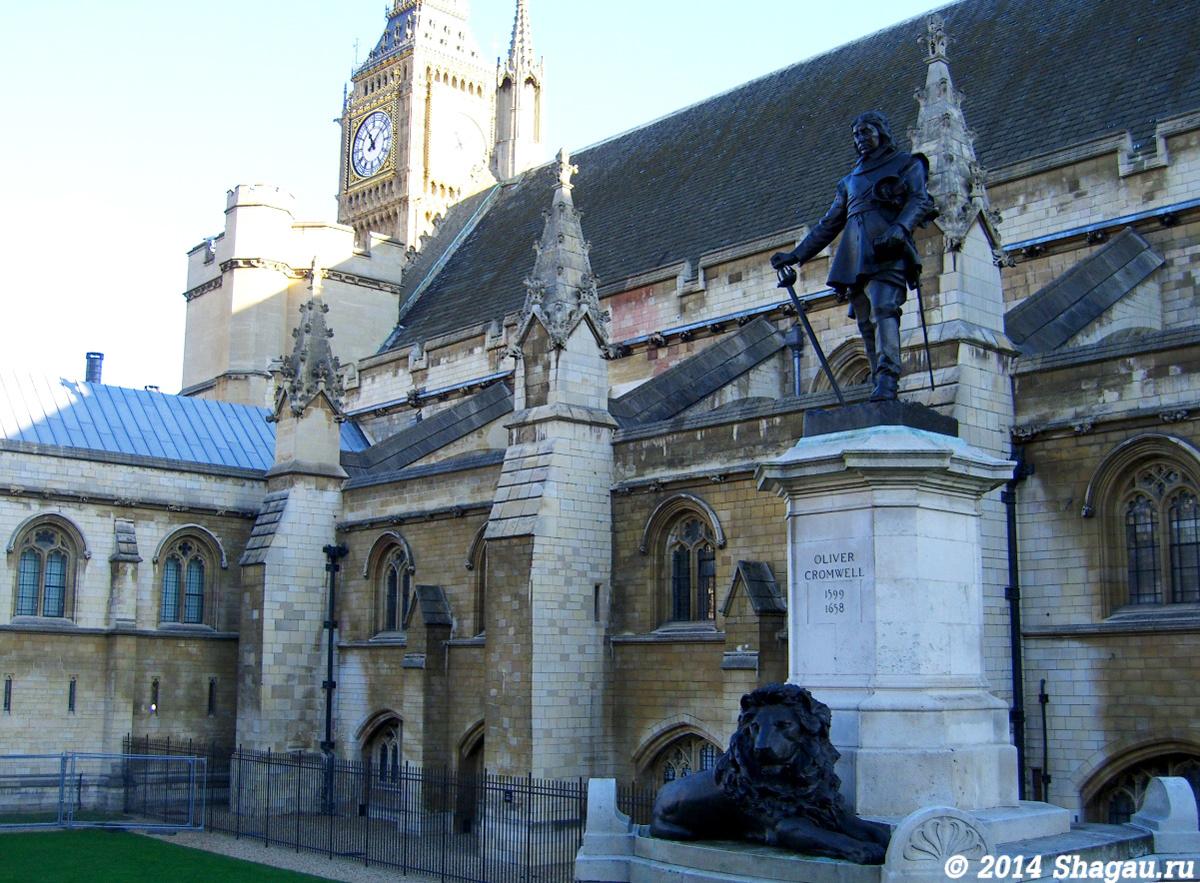Лондон. Памятник Оливеру Кромвиллю
