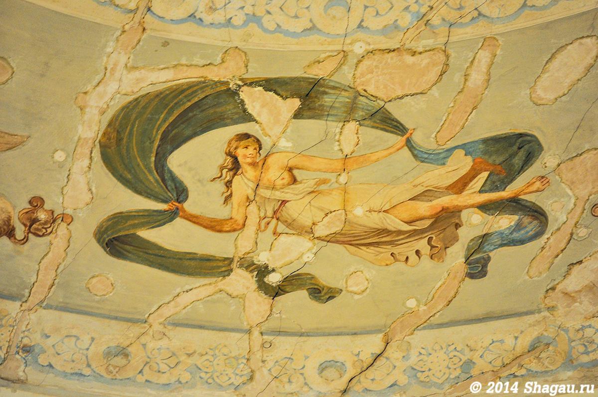 Фрагмент росписи плафона
