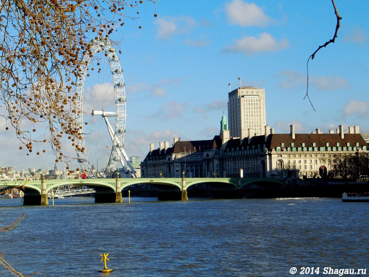 Лондон. Колесо обозрения London-eye