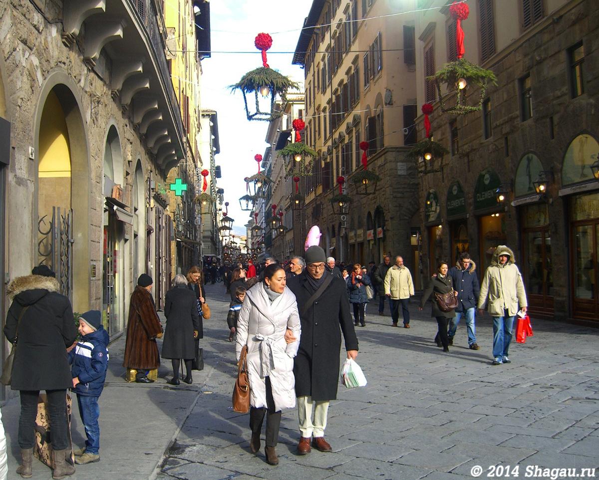Новогодние улицы Флоренции