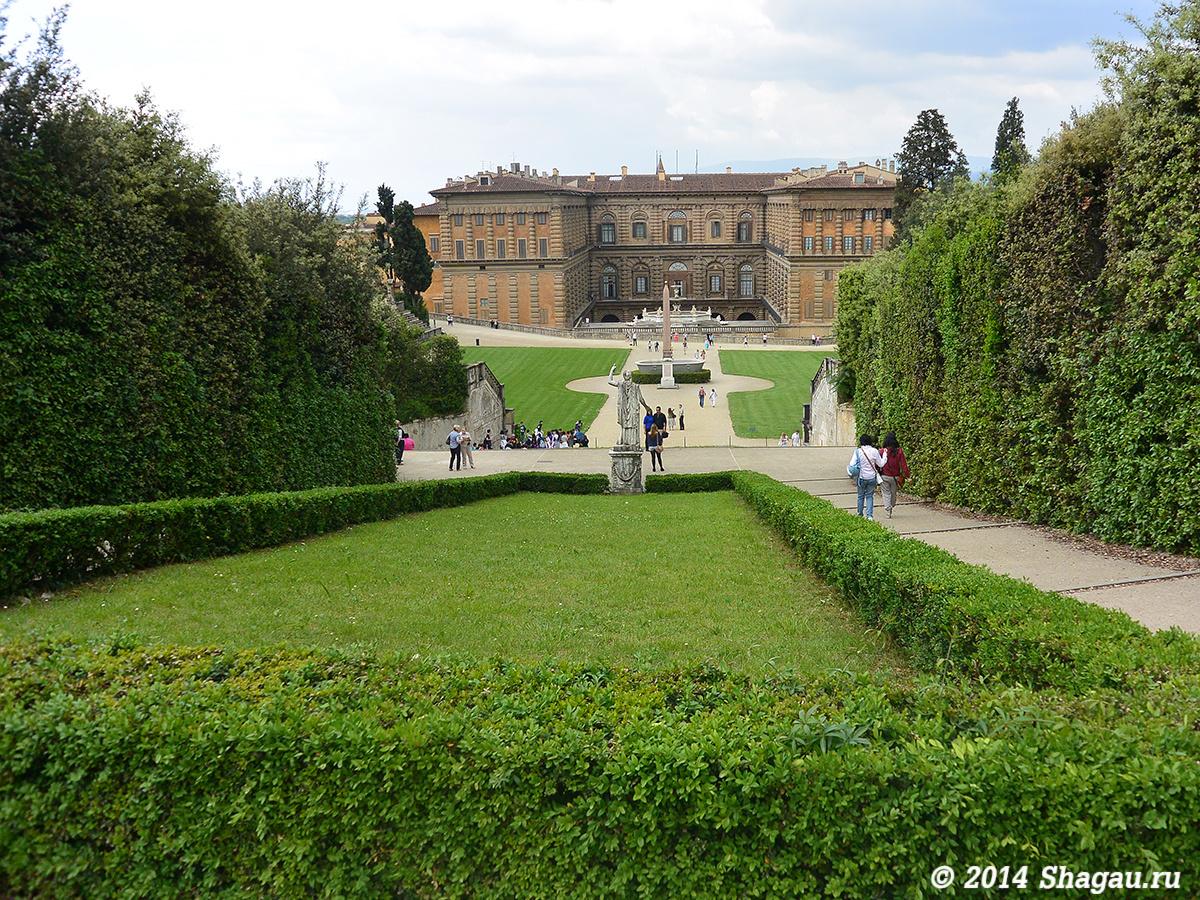 Вид на дворец Питти