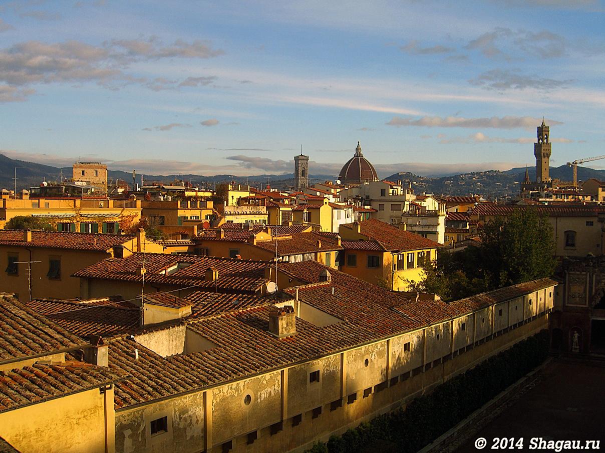 Вид на Флоренцию из Дворца Питти
