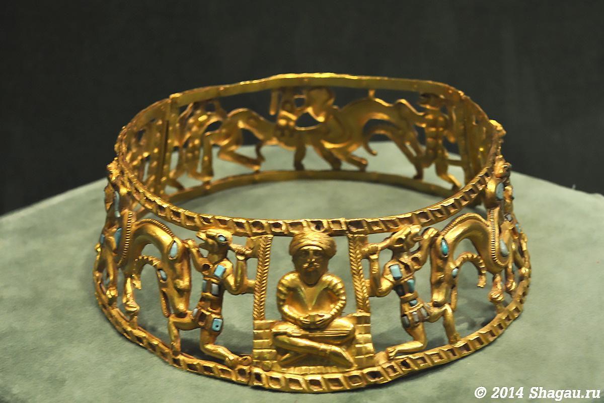 Гривна. Золото, бирюза. Конец I- начало II вв н.э.