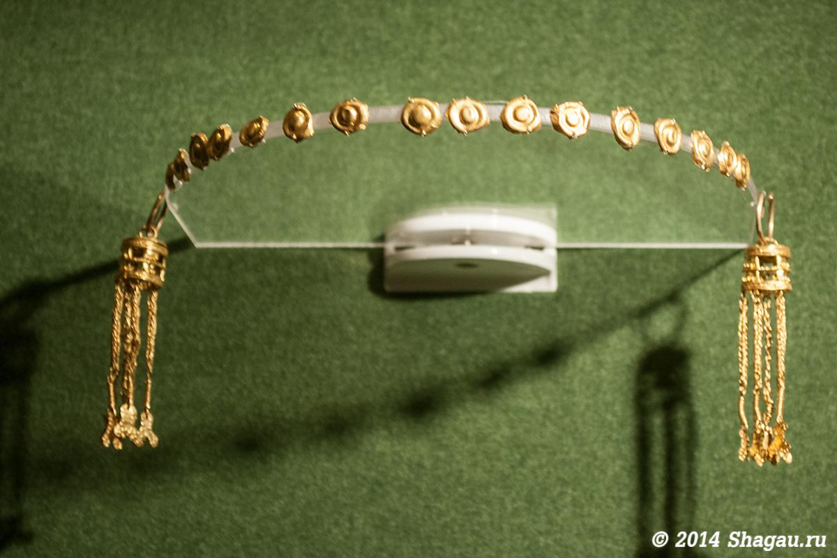 Реконструкция элементов украшения головного убора, I-II века н.э.