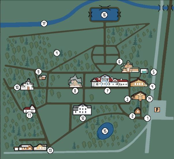 План усадьбы Абрамцево