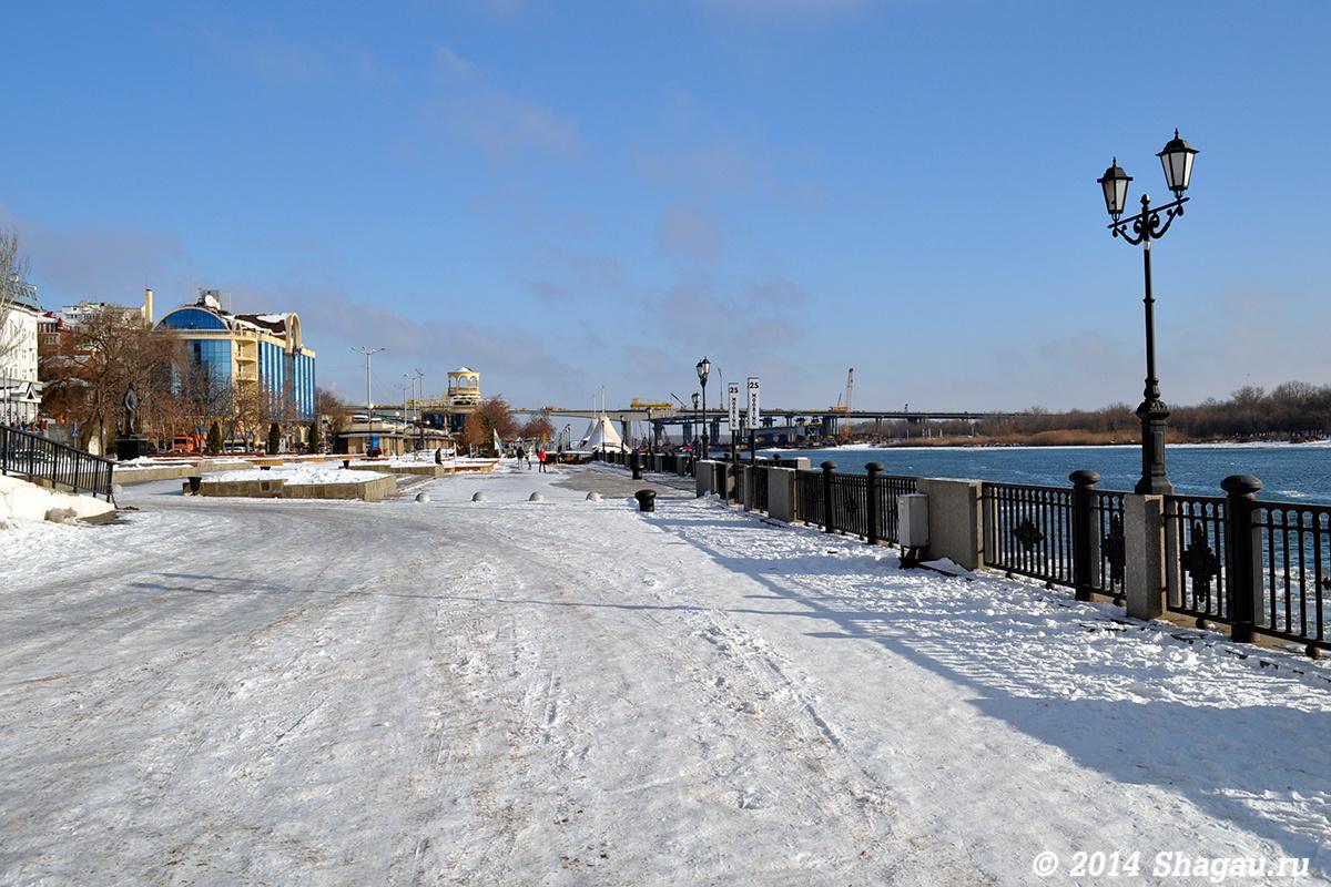 Набережная Ростова зимой