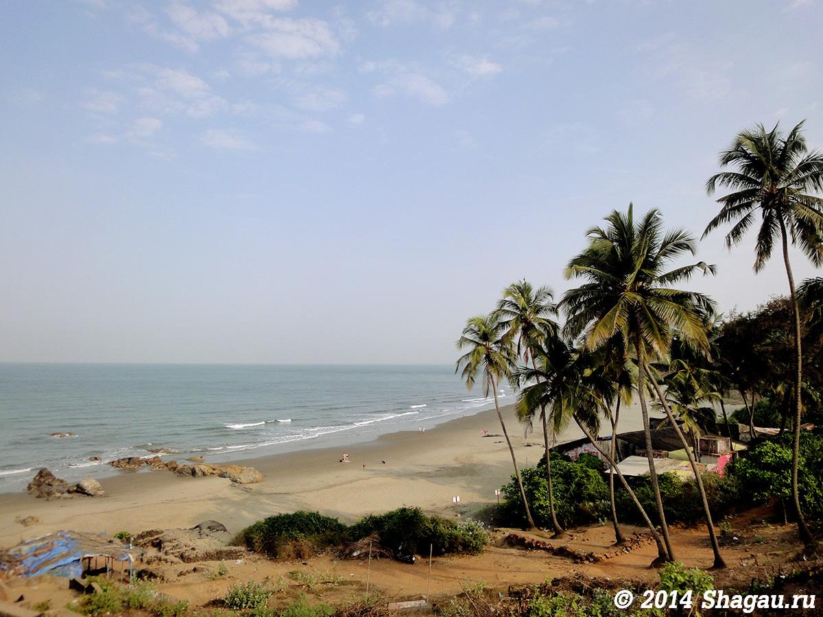 Пляж Вагатор на Гоа