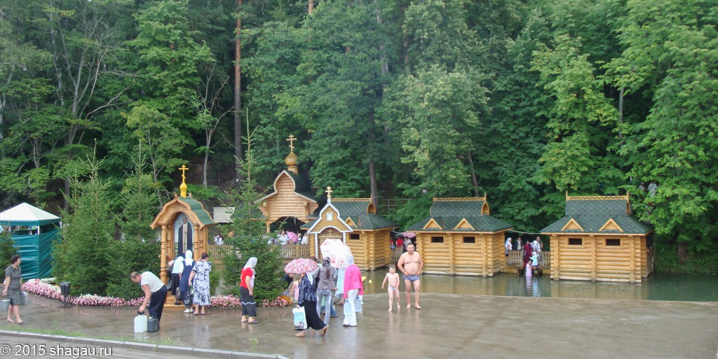 Дождь- не помеха для посещения Дивеево
