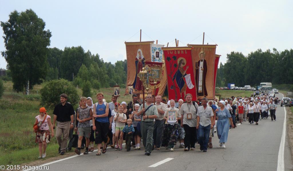 Крестный ход по всей Нижегородской области в честь праздника Серафима Саровского