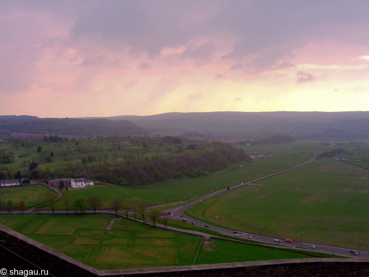 Вид из замка Стерлинг