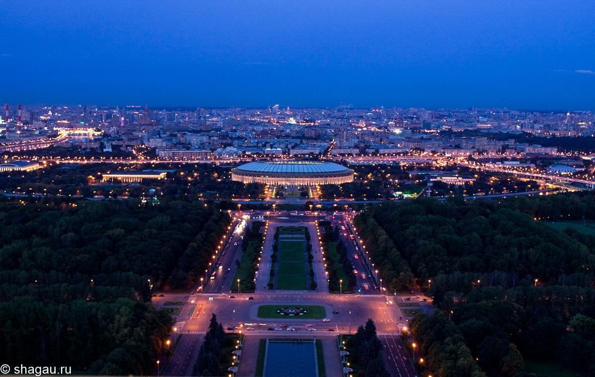 Вид с 32 этажа МГУ