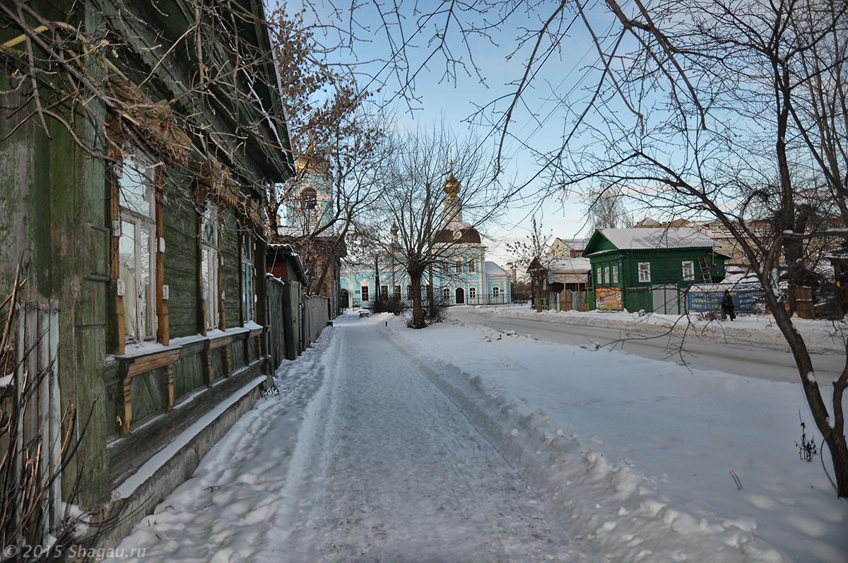 Дорога к Успенской церкви