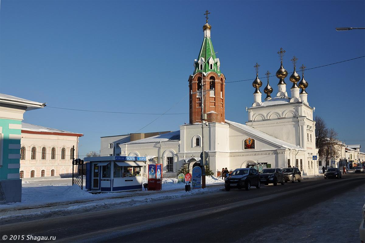 Вознесенская церковь, вид с улицы Московская