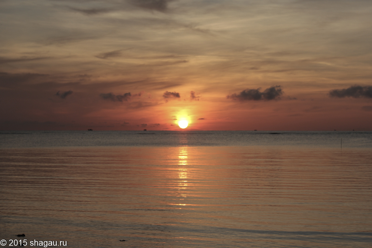 Закат на  Талинг-Нгам