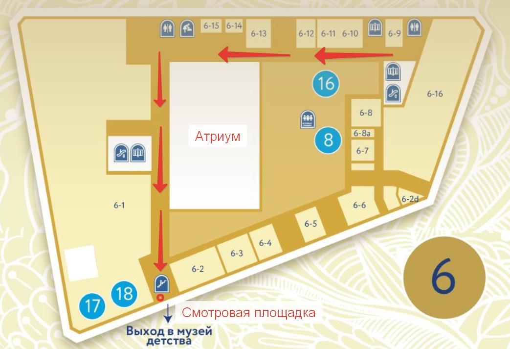 План 6-го этажа