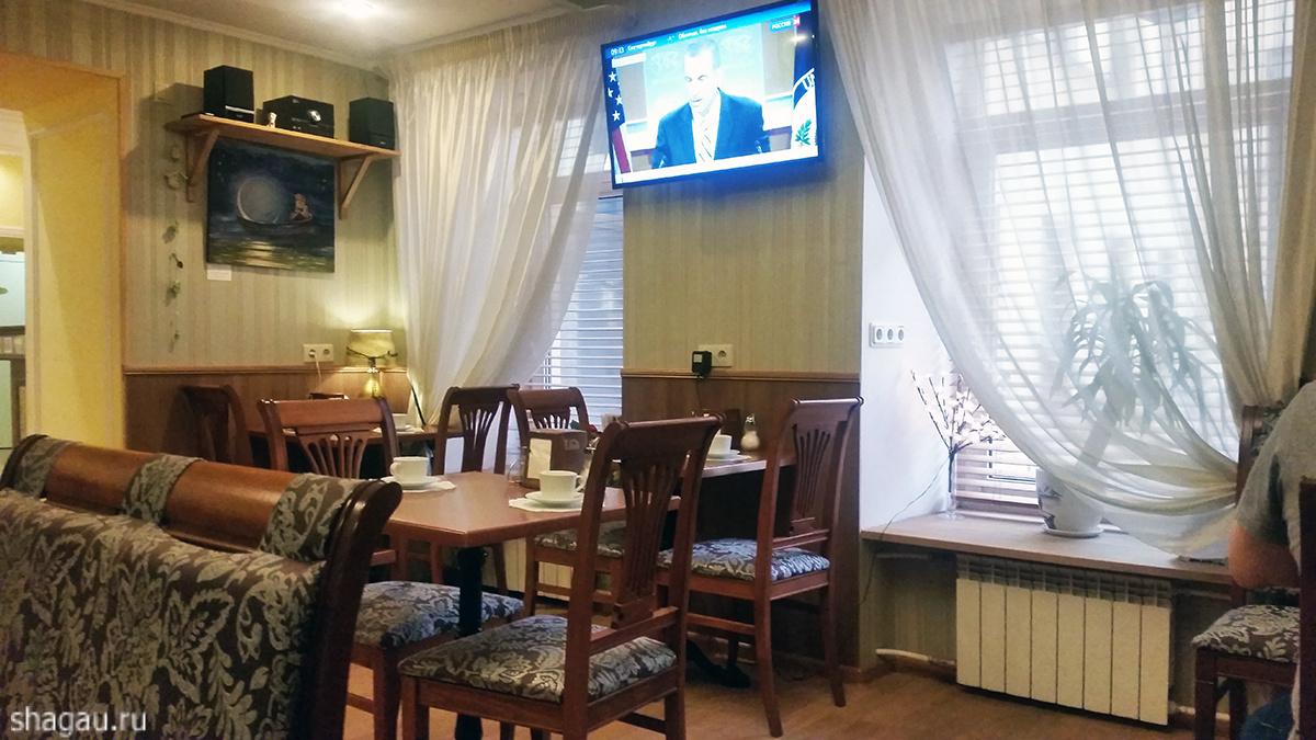 Место для завтрака в отеле Комфорт 3*
