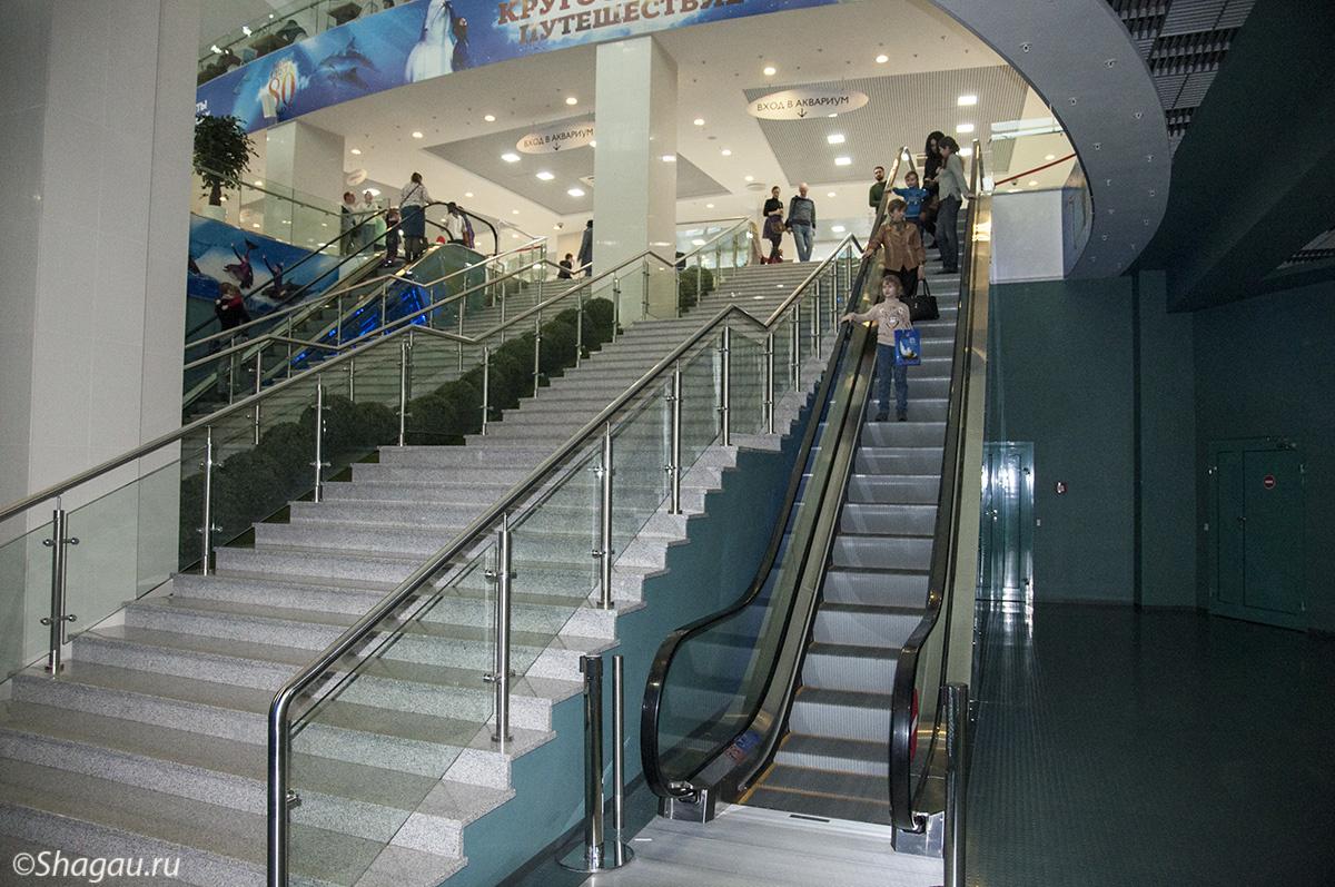 Эскалаторы на второй этаж