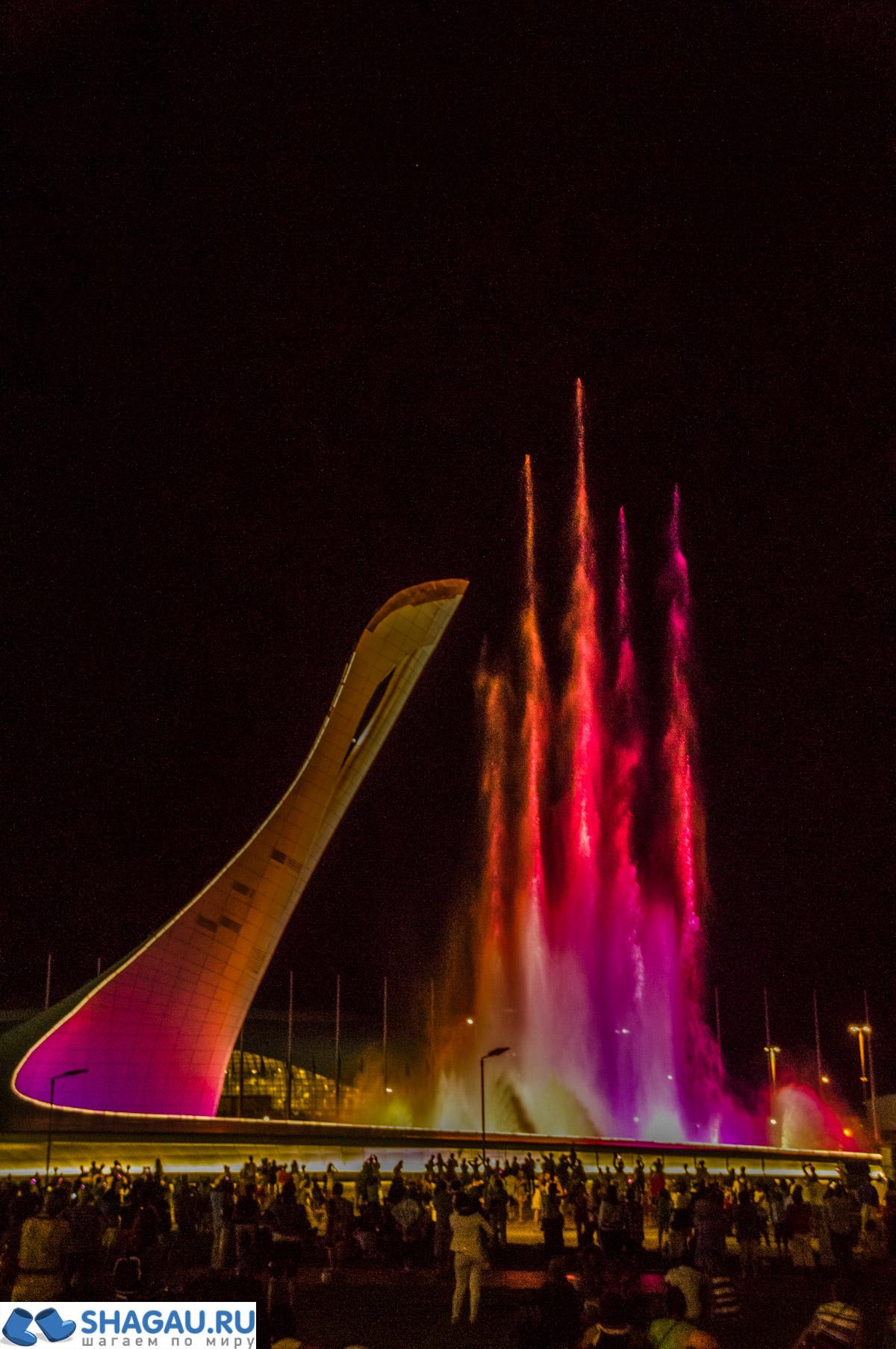 Олимпийский парк фонтан