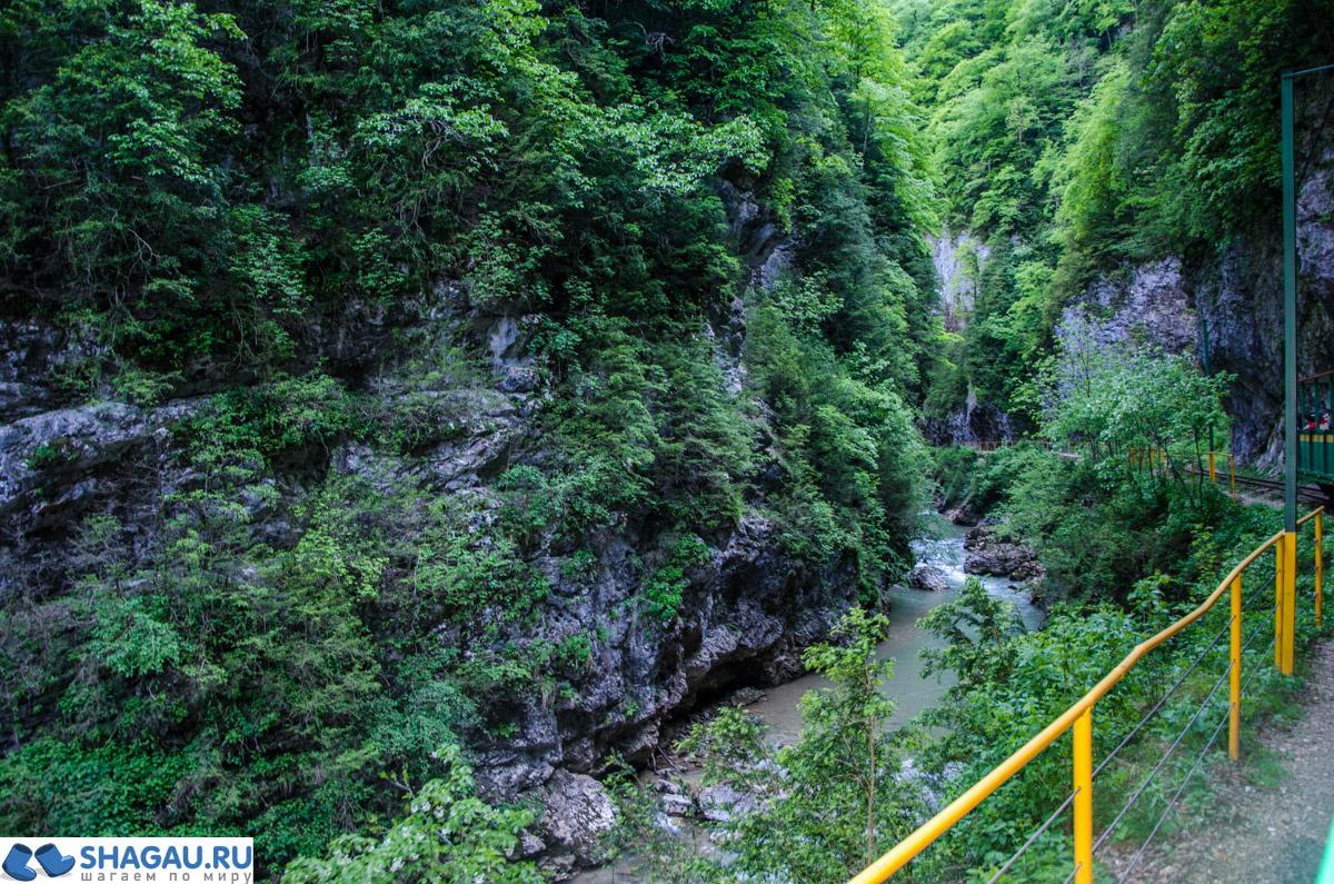 Поездка на горном поезде по Гуамскому ущелью в Адыгее