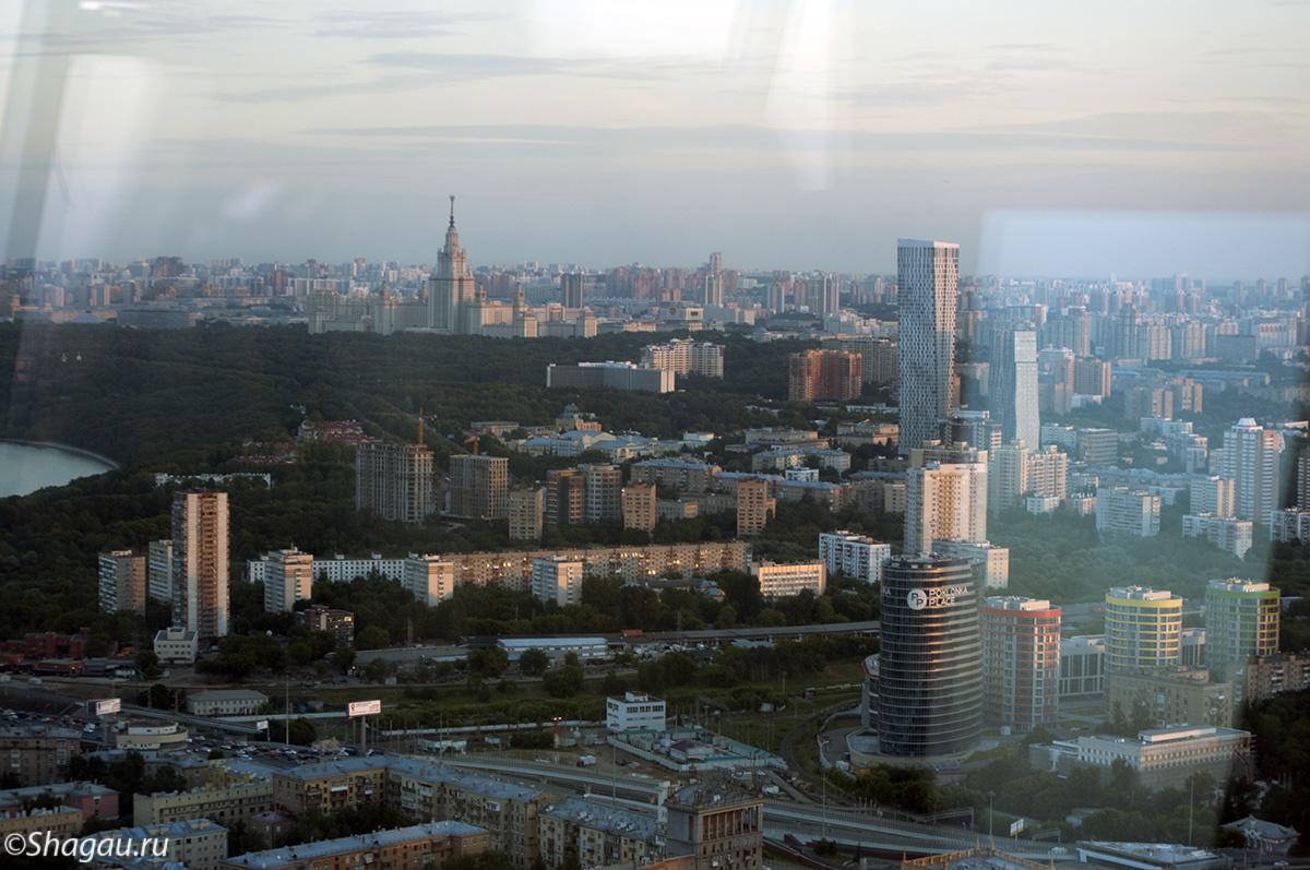 Вид со смотровой Москва-Сити