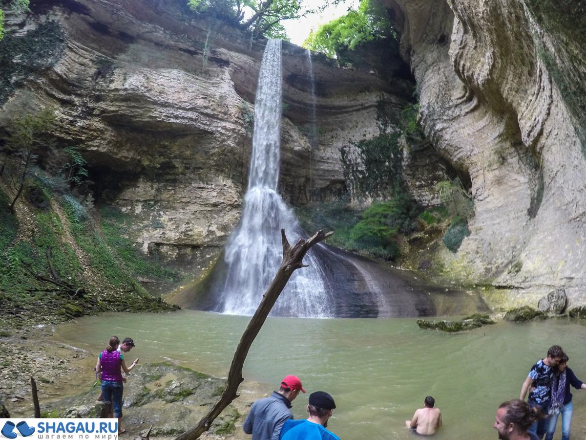 Шакуранский водопад Абхазия