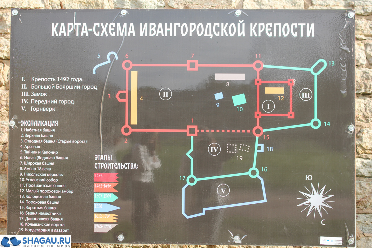 Ивангородская крепость: план