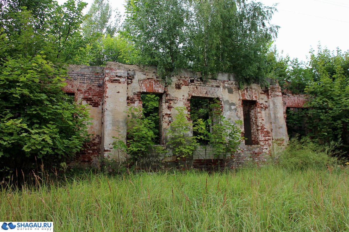 Руины усадьбы Голицыных в Дубровке