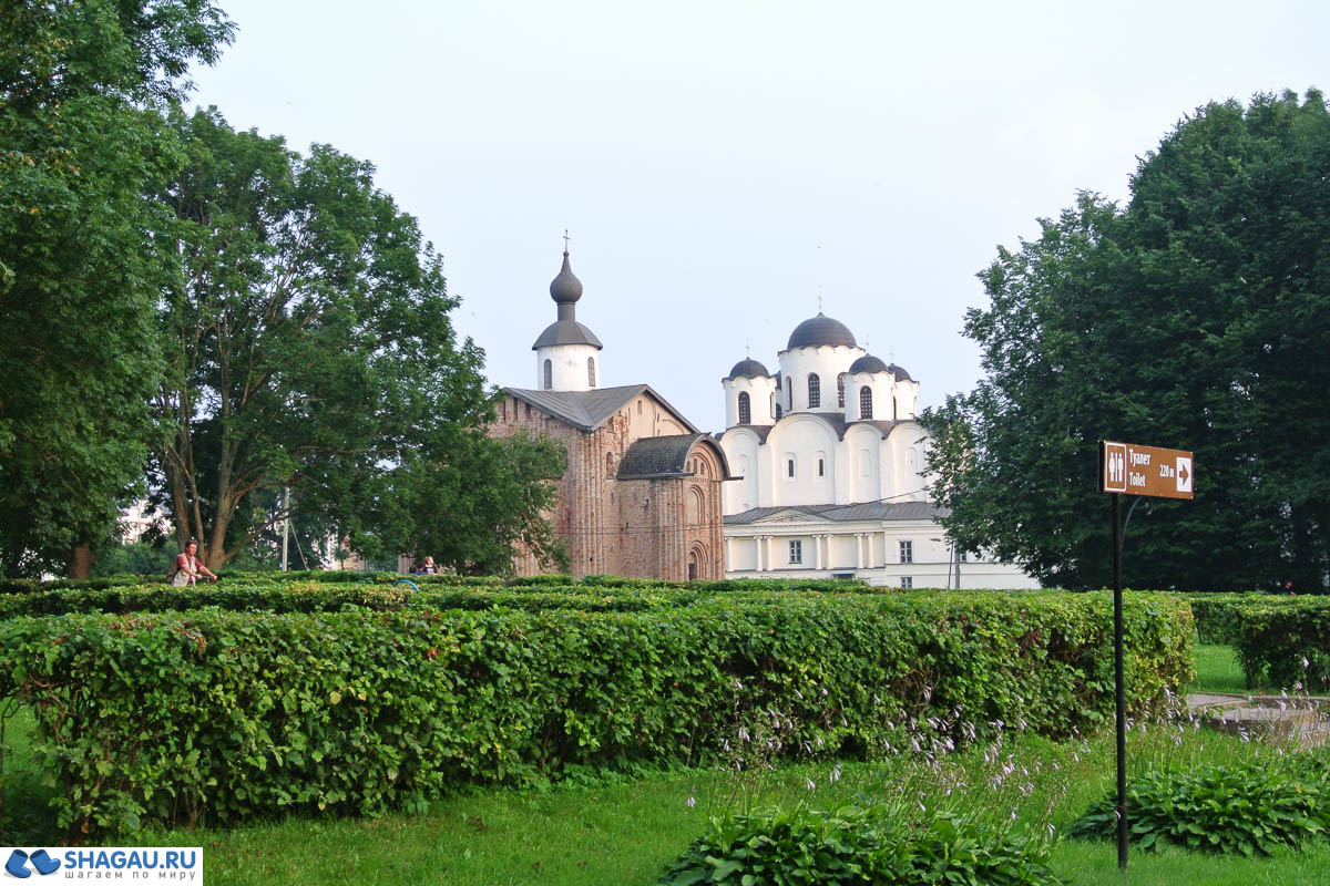 церковь Параскевы-Пятницы и Никольский собор на Ярославле Дворище