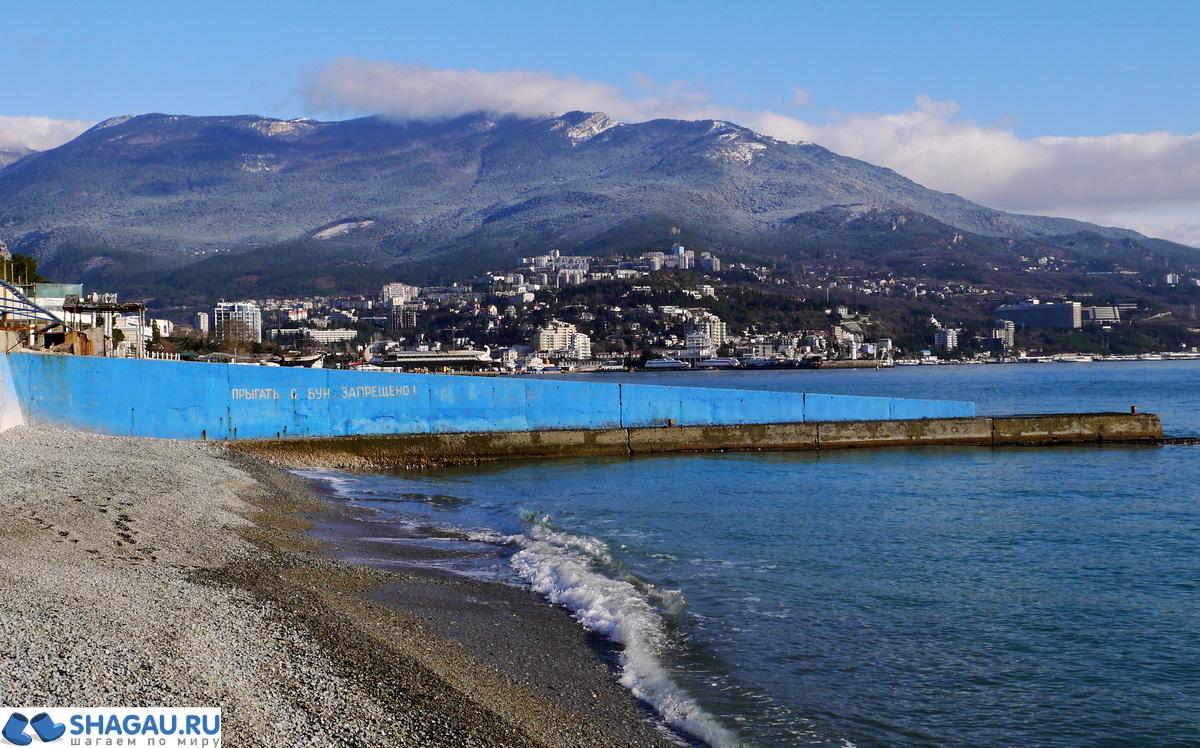 Море зимой в Крыму