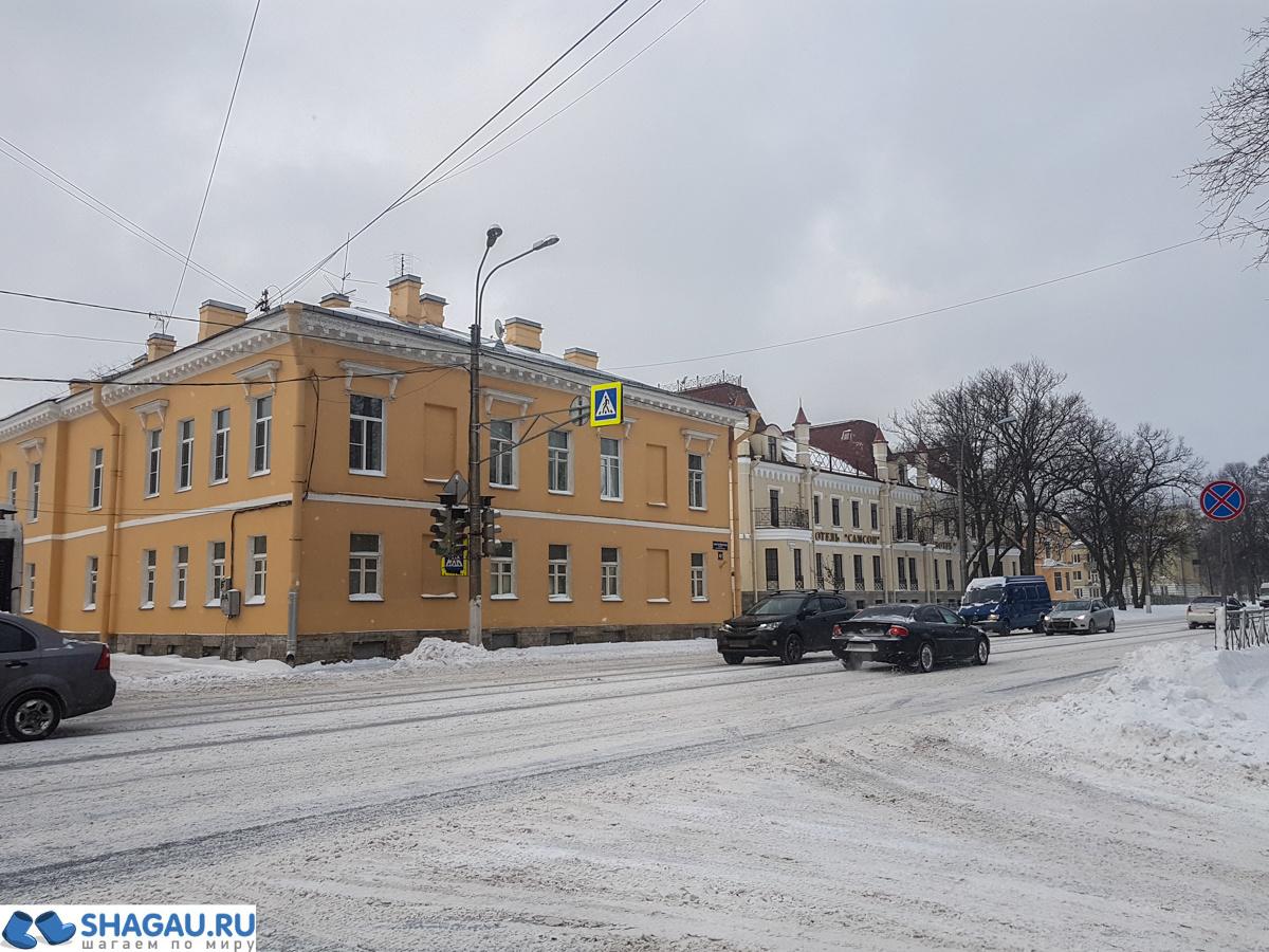 Город Петергоф зимой