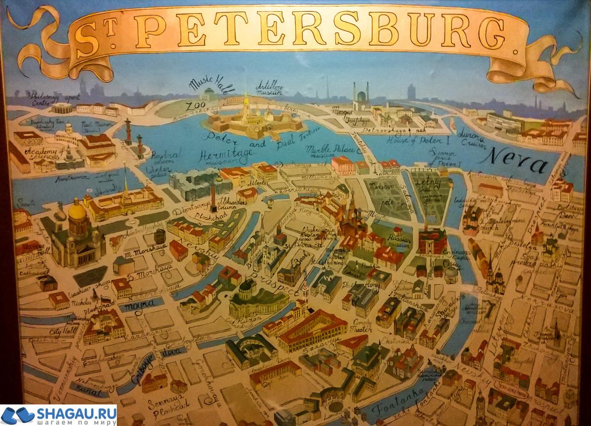 карта санкт петербурга с фотографиями улиц и домов